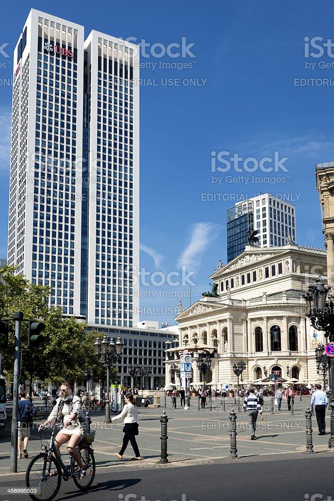 Frankfurt, Germany, Old Opera House, Opernplatz stock photo