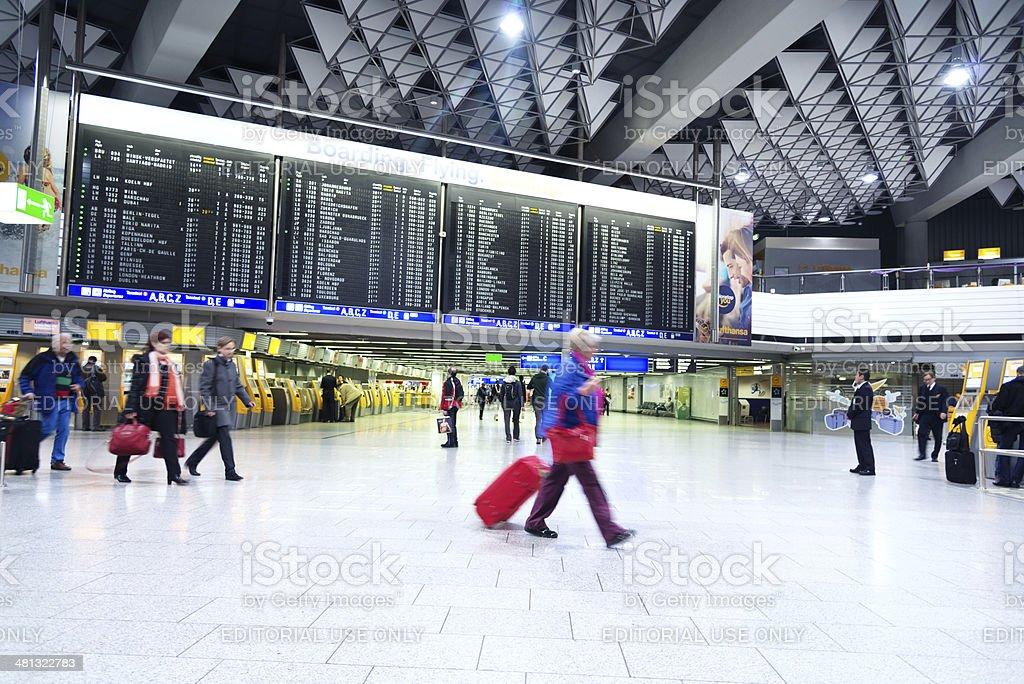 Frankfurt International Airport stock photo