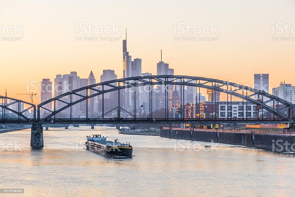 Frankfurt Main skyline, Germany stock photo