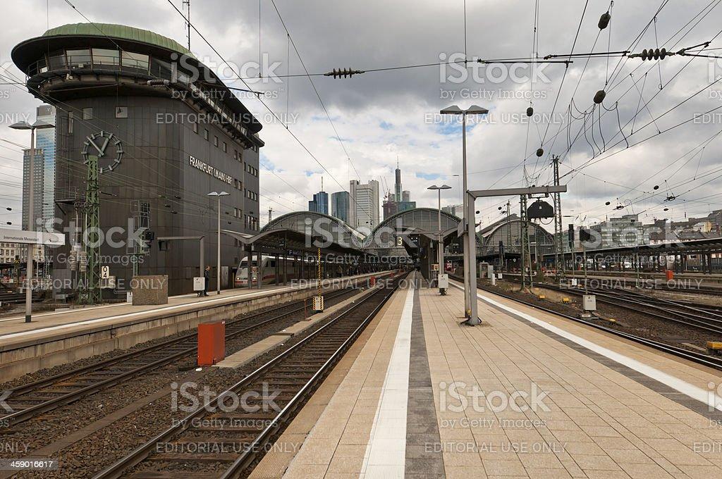 Frankfurt Main train station stock photo