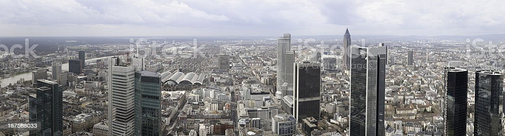Frankfurt office buildings, Germany, downtown financial center skyline stock photo