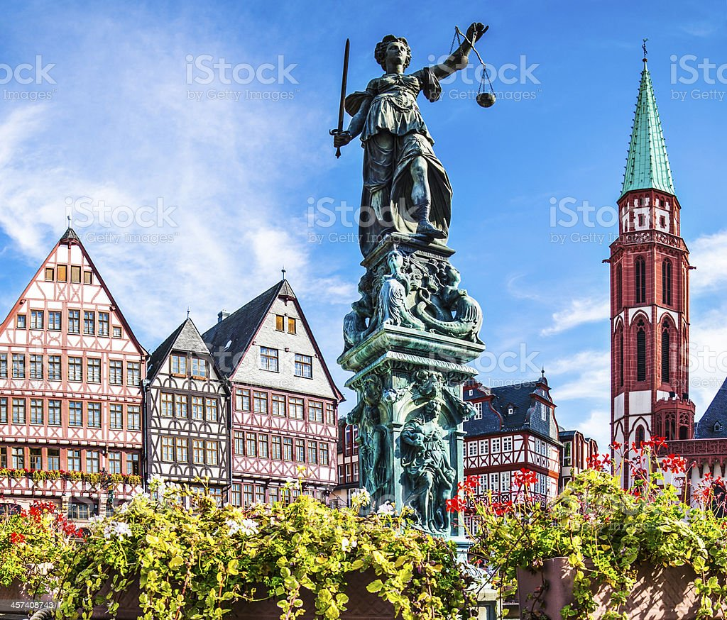 Frankfurt Old City stock photo