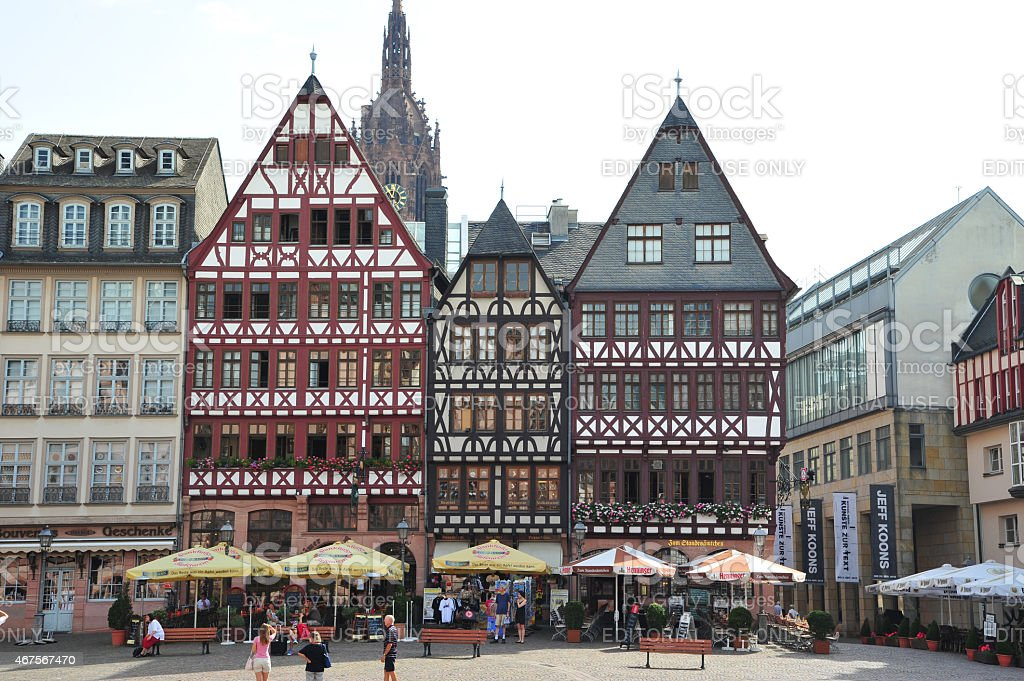 Frankfurt Old Square, Germany stock photo