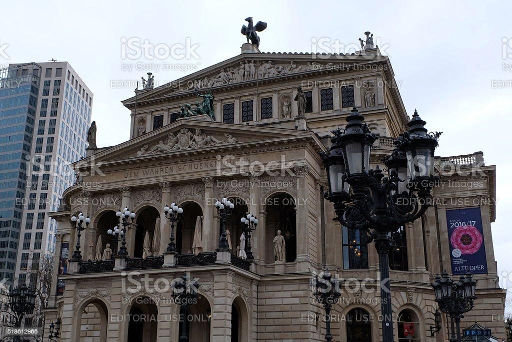 Frankfurt Opera House With Lantern stock photo