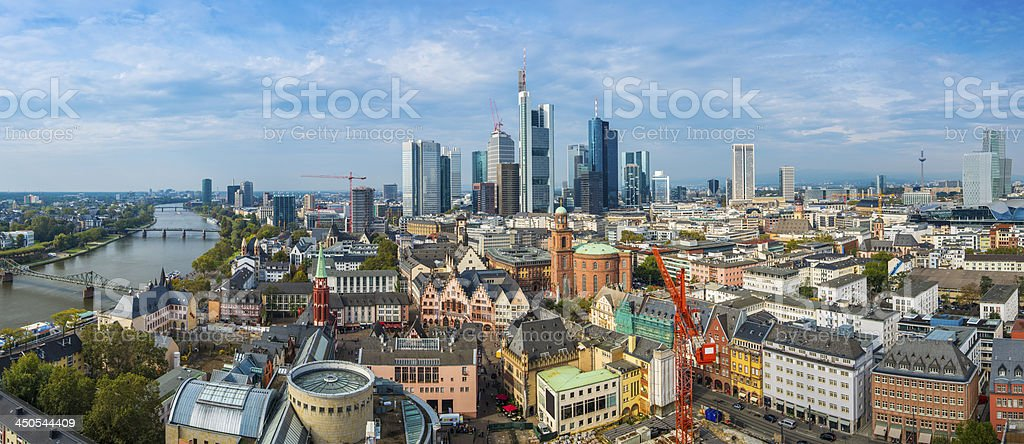 Frankfurt Panorama stock photo