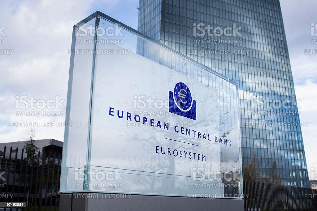 ECB Frankfurt stock photo
