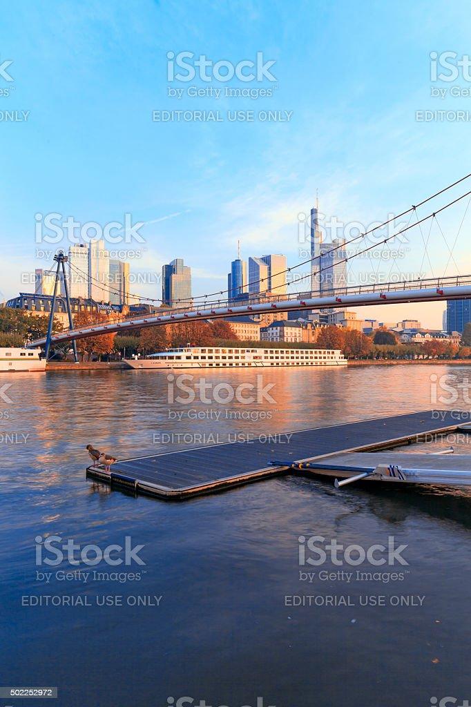 Frankfurt Riverside stock photo