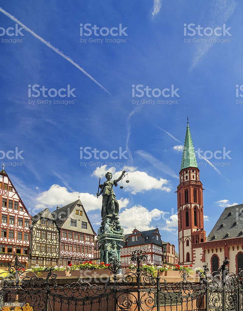 Frankfurt Römerberg stock photo