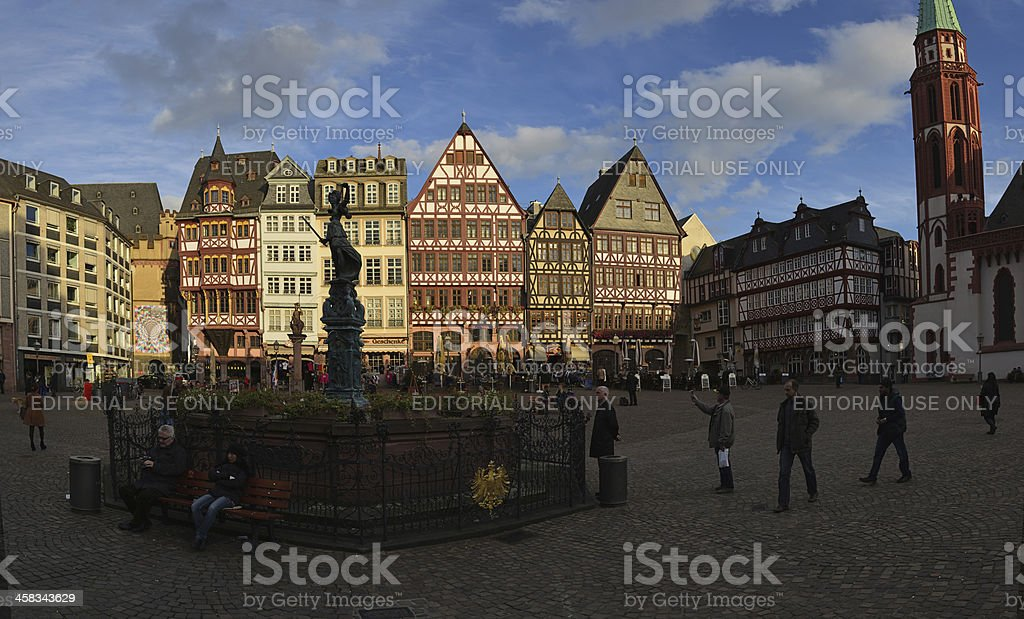 Frankfurt, Romerberg stock photo