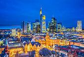 Frankfurt Skyline at Christmas Season