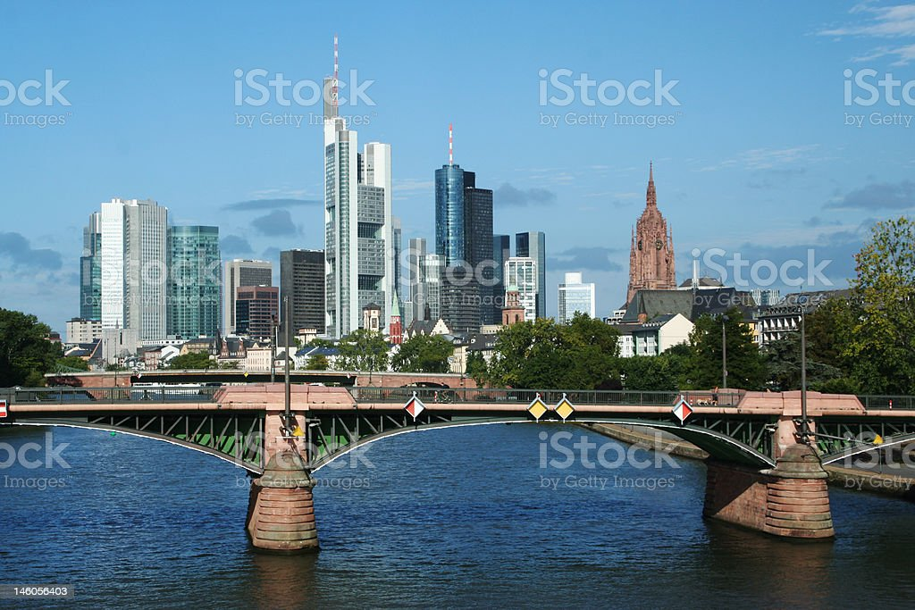 Frankfurt skyline at dawn, Germany royalty-free stock photo