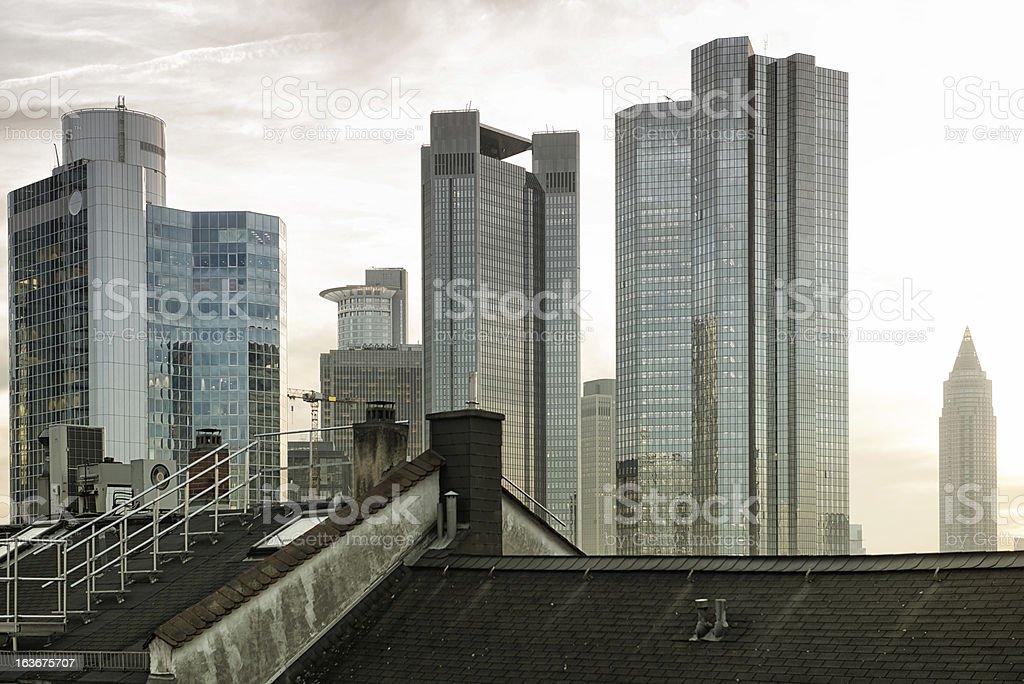 Frankfurt Skyline, Germany, stock photo