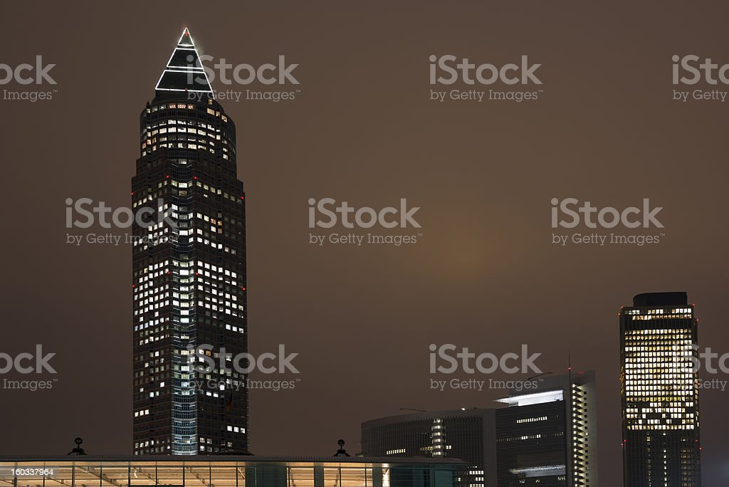 Frankfurt, Skyline, Messe Tower, Germany royalty-free stock photo