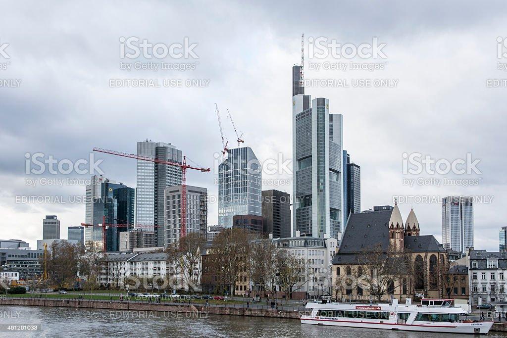 Frankfurt Skyline stock photo