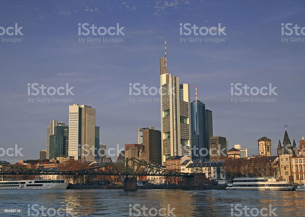 Frankfurt skyline royalty-free stock photo