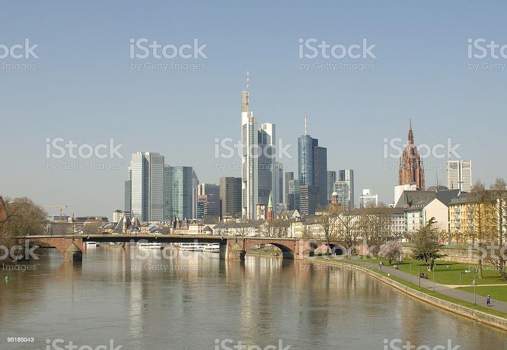 Skyline di Francoforte foto stock royalty-free