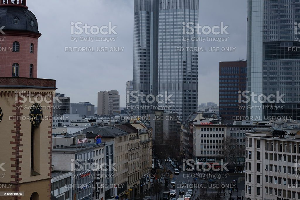 Frankfurt Skyline With Church And Junior Haus Stock Photo 518528570