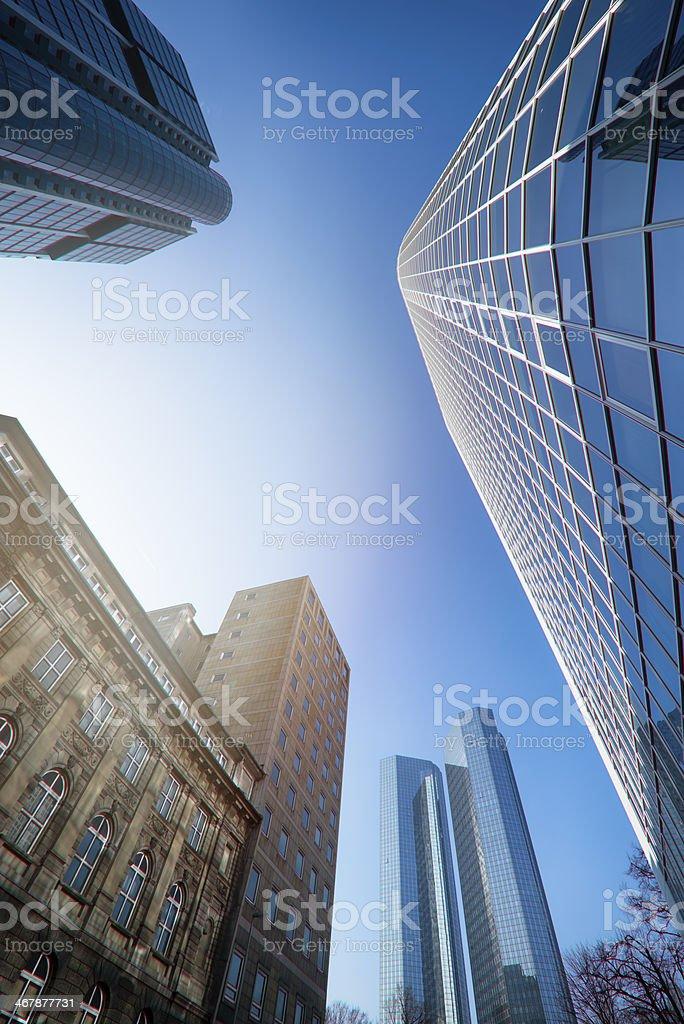 Frankfurt Skyscrapers Financial District stock photo
