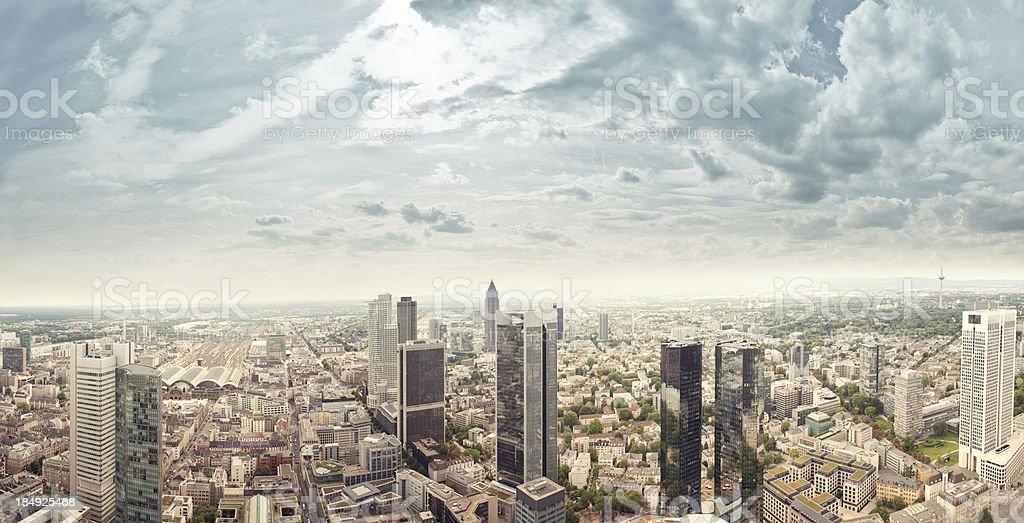 Frankfurt skyscrapers royalty-free stock photo