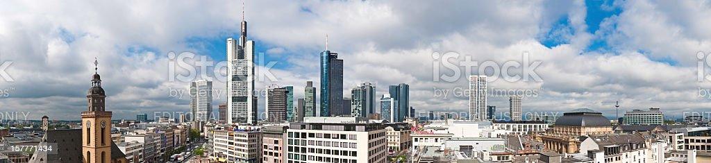 Frankfurt Zeil Hauptwache skyscrapers panorama Germany stock photo
