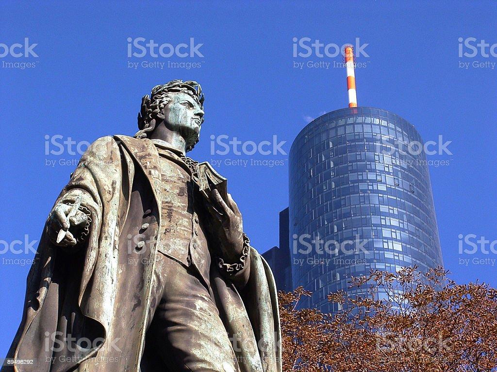 Frankfurt/Main Taunusanlage Friedrich-Schiller-Denkmal stock photo