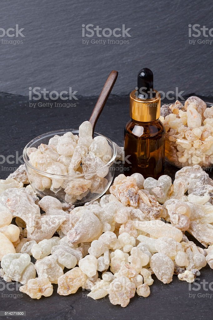 Frankincense aroma oil stock photo