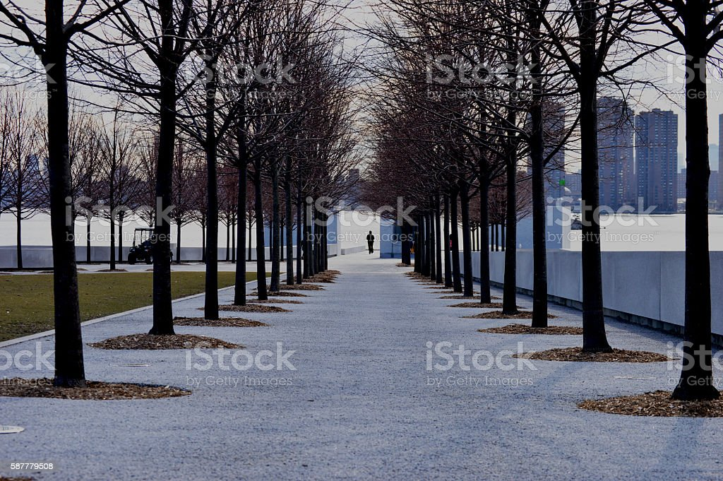 Franklin D. Roosevelt Four Freedoms Park Perspective stock photo
