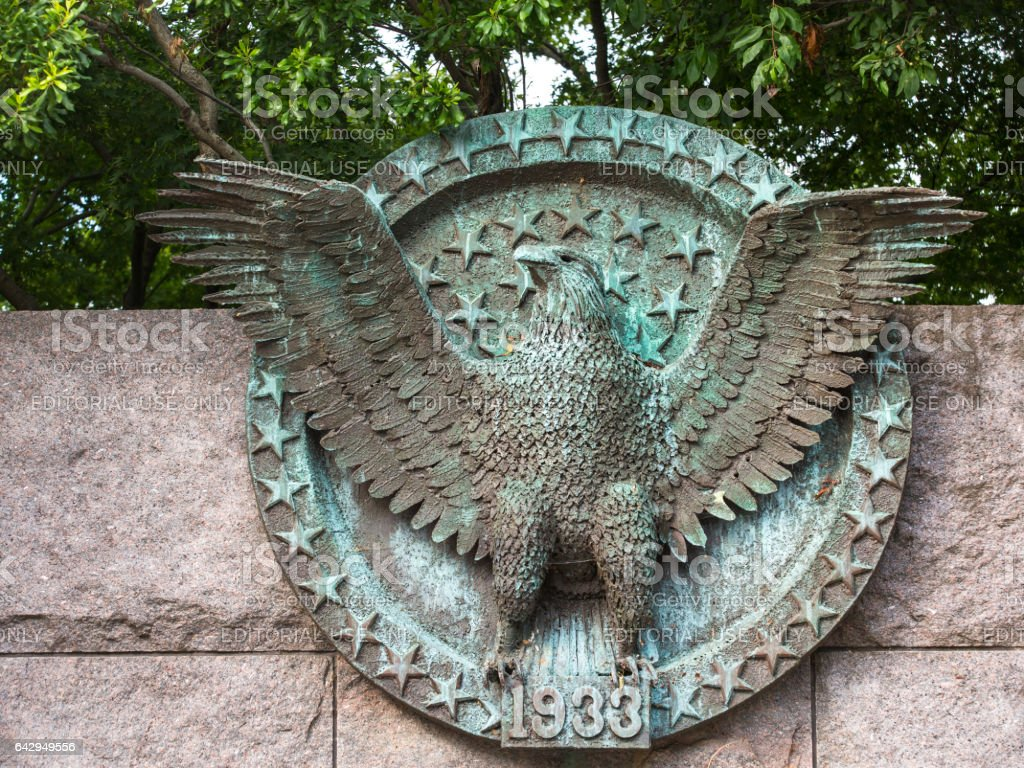 Franklin D. Roosevelt Memorial. stock photo
