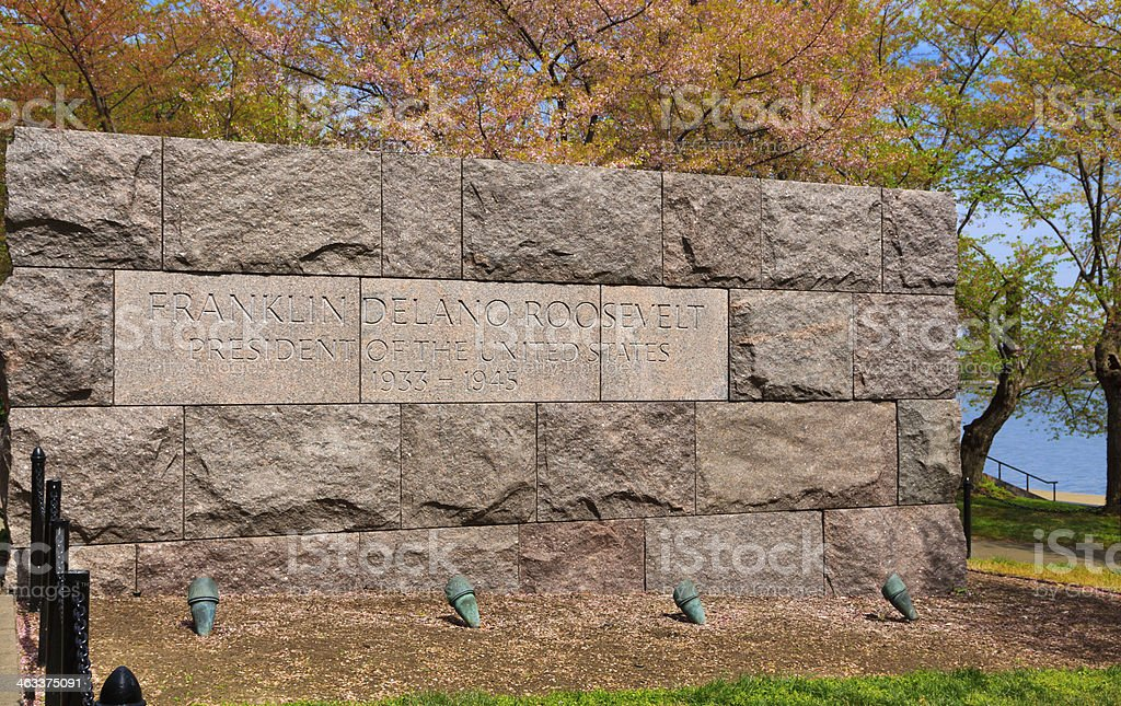 Franklin Delano Roosevelt Memorial, Washington DC royalty-free stock photo