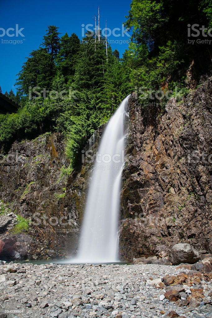 Franklin Falls in the Cascade Mountains of Washington stock photo