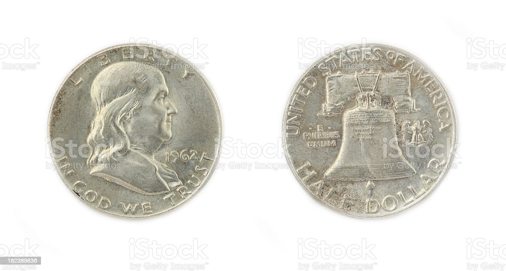 Franklin Half Dollar stock photo