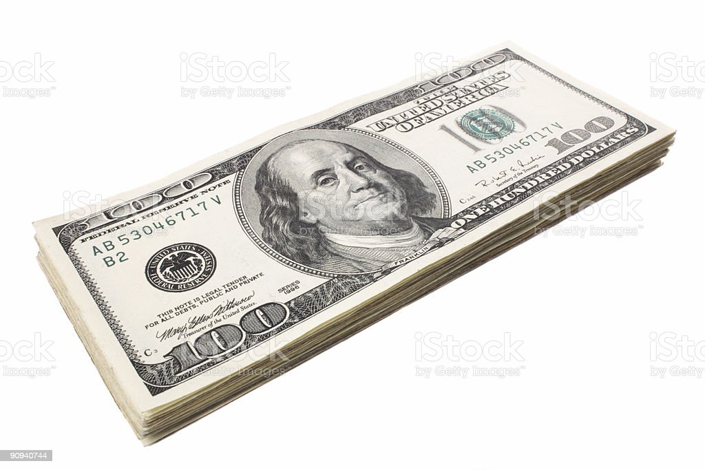 Franklin small pile royalty-free stock photo