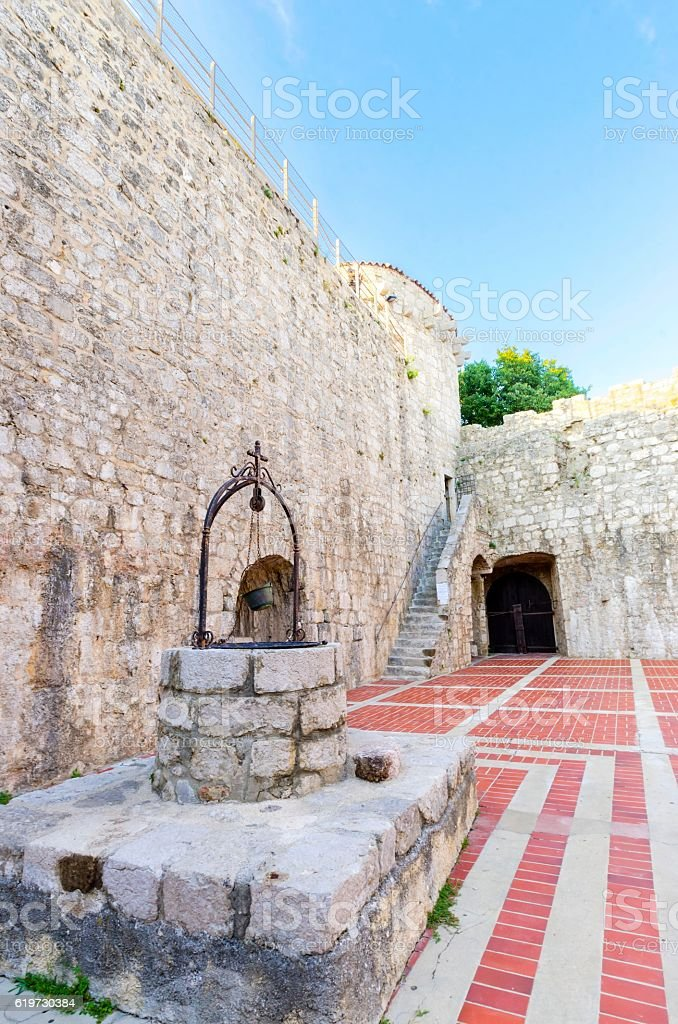 Frankopan Castle, Krk, Croatia stock photo