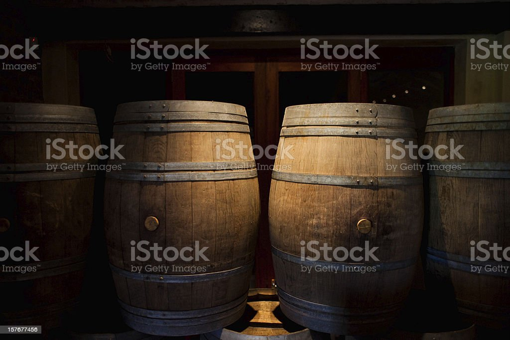 Franschhoek wine barrels royalty-free stock photo