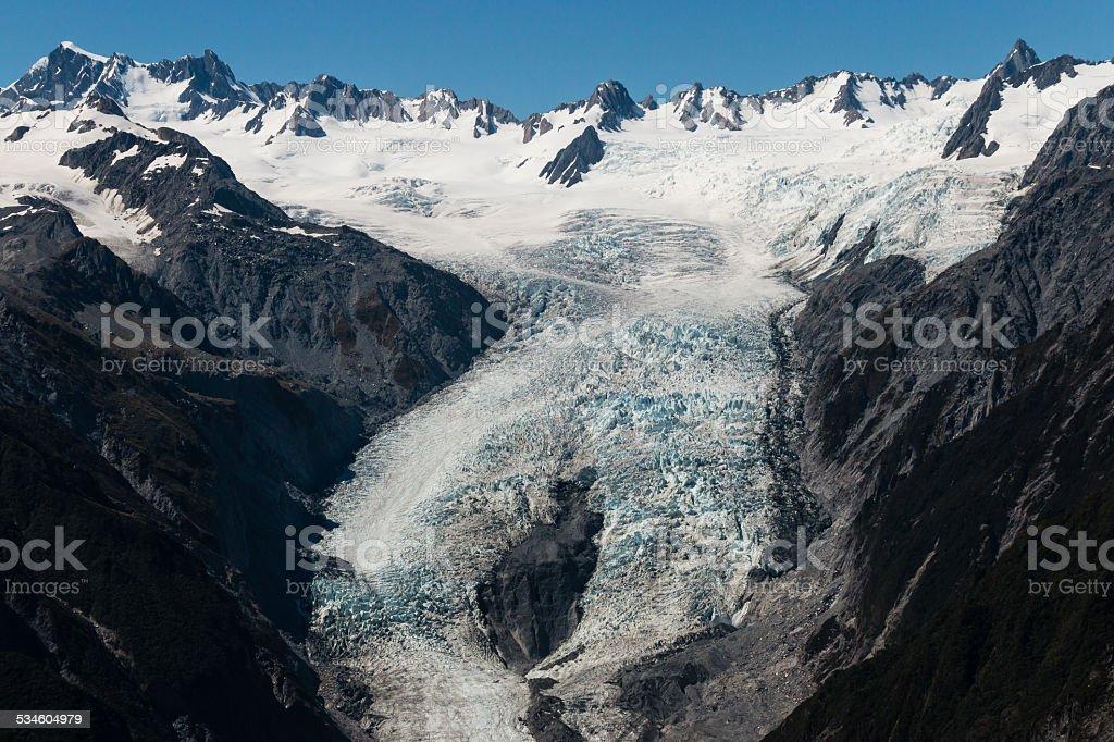 Franz Josef Glacier in New Zealand stock photo