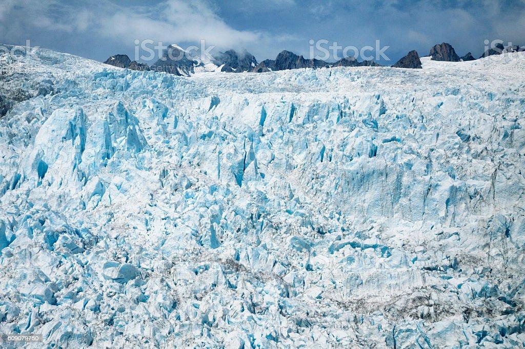 Franz Josef Glacier in the Southern Alps, New Zealand stock photo