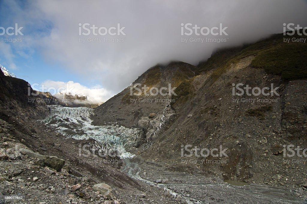Franz Josef Glacier, New Zealand stock photo