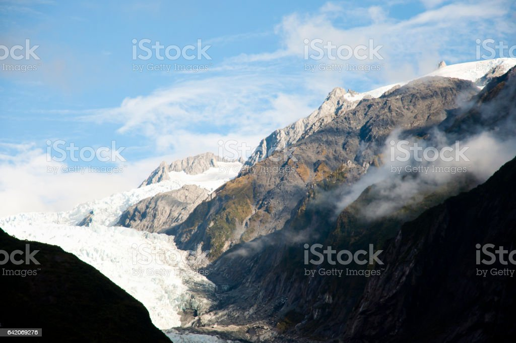 Franz Josef Glacier - New Zealand stock photo