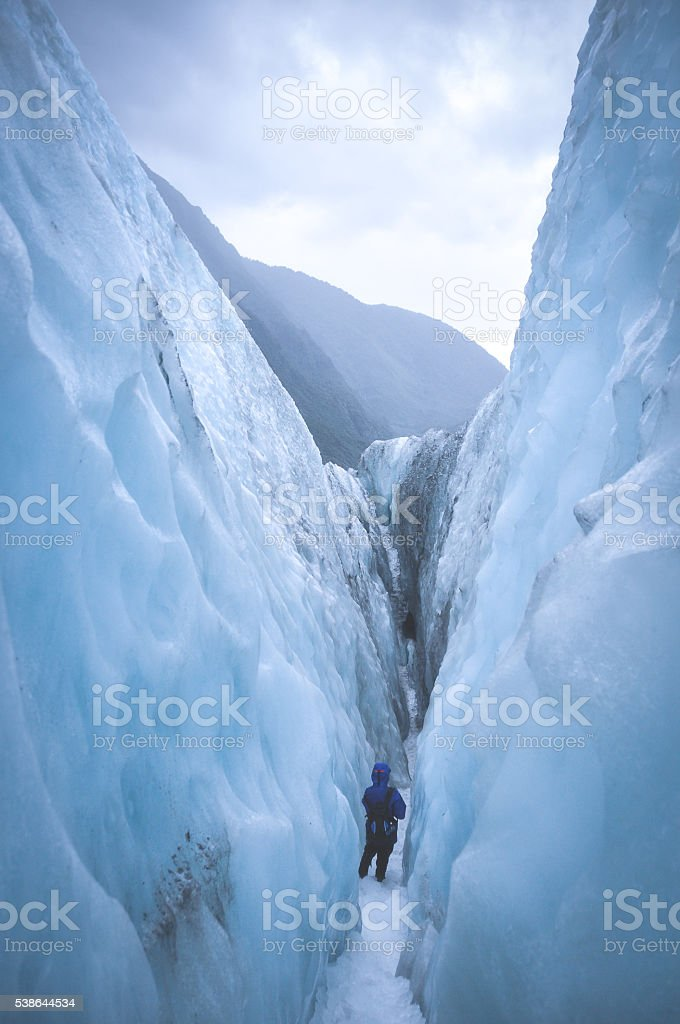 Franz Josef Glacier path stock photo