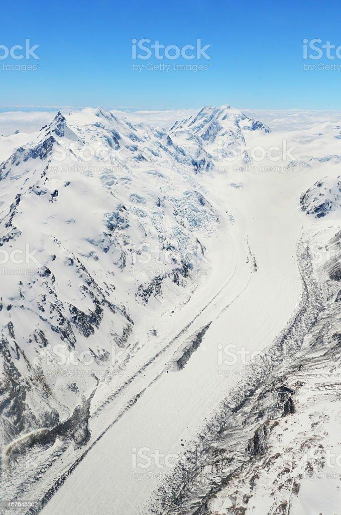 franz josef glacier stock photo