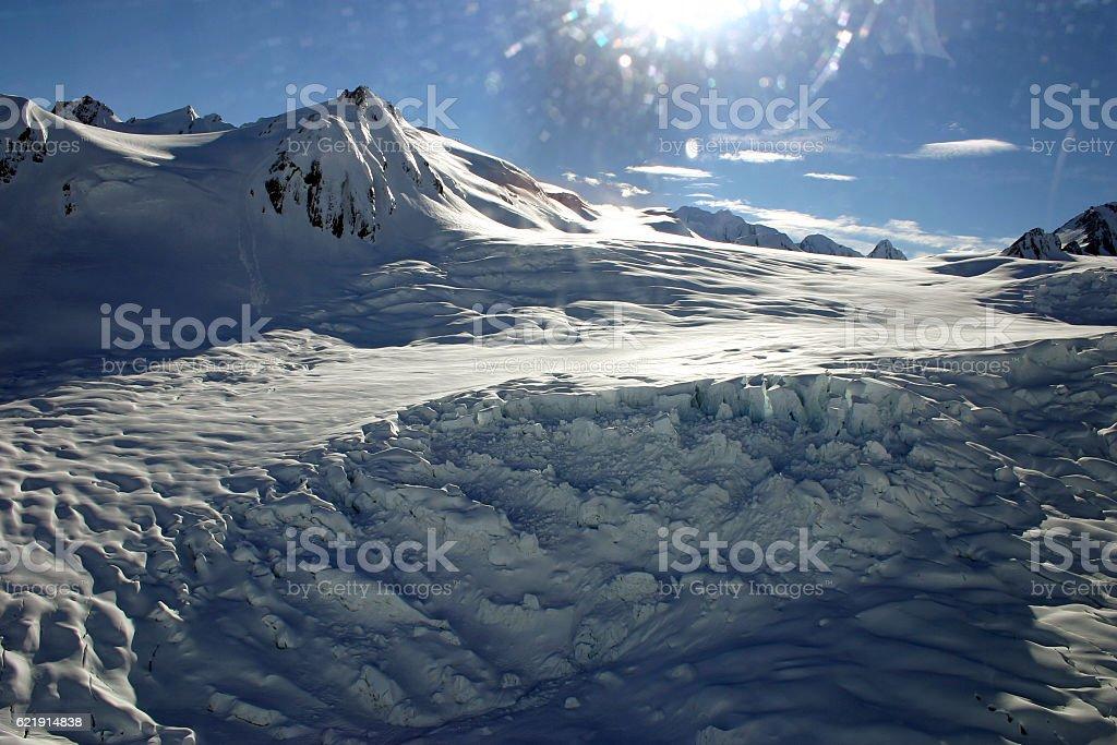 Franz Josef Glacier, Southern Alps, New Zealand stock photo