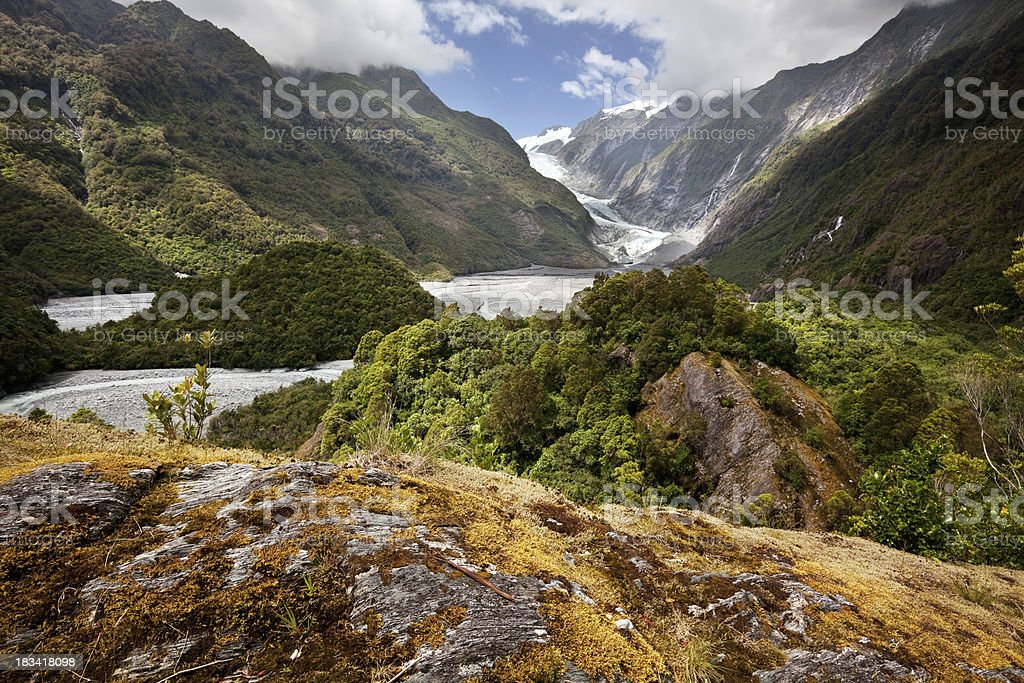 Franz Josef Glacier Valley in New Zealand royalty-free stock photo