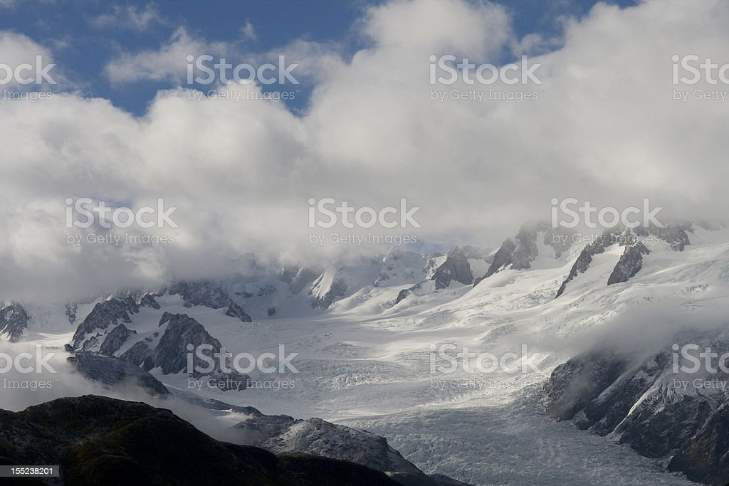 Franz Joseph glacier from the air stock photo