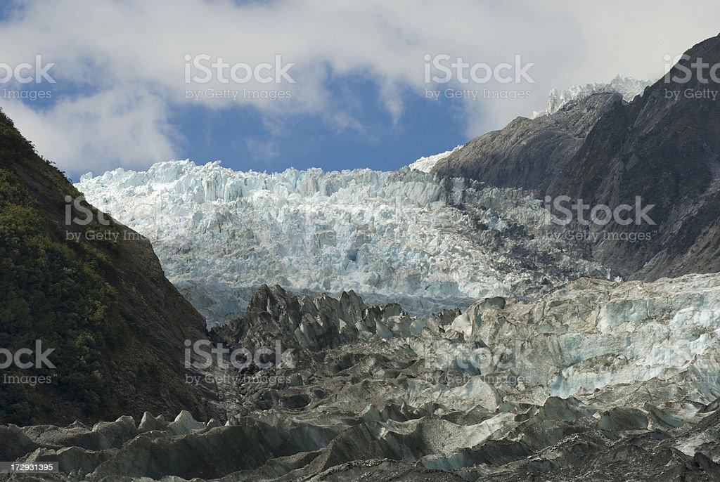 Franz Joseph Glacier in New Zealand stock photo
