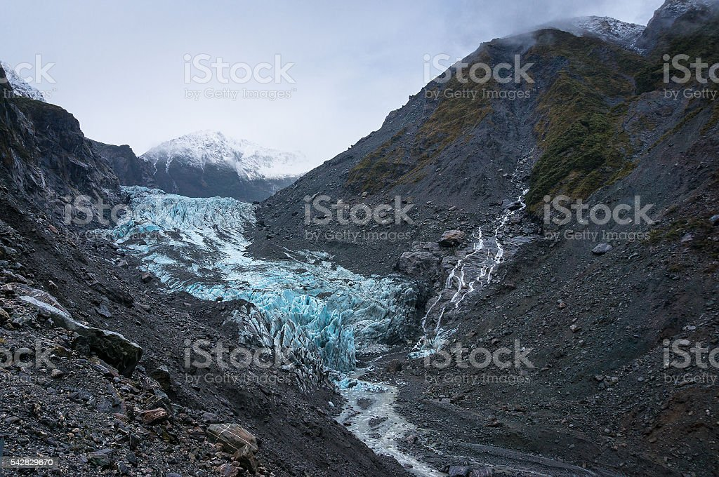 Franz Joseph Glacier, New Zealand stock photo