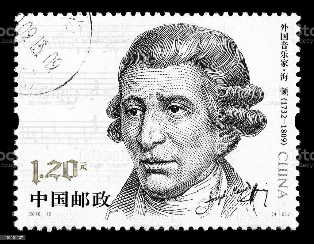 Franz Joseph Haydn stock photo