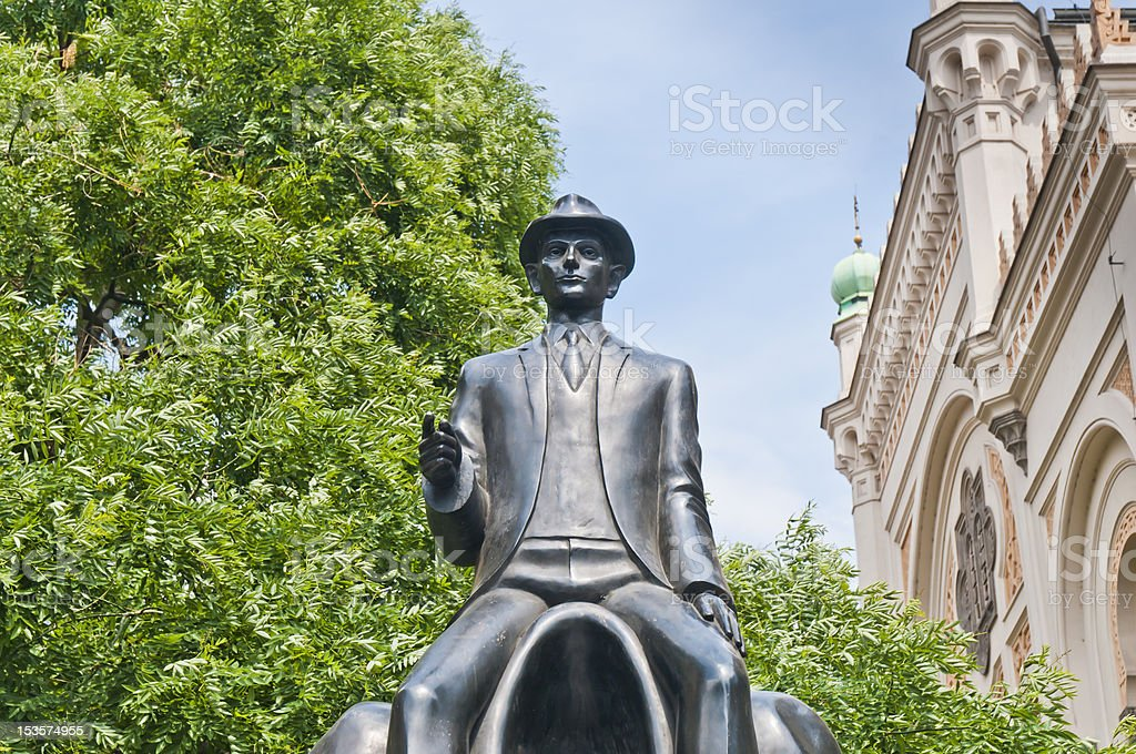 Franz Kafka statue royalty-free stock photo