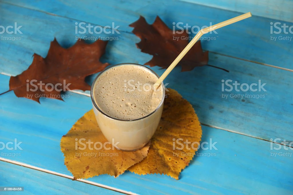 Frappe, ice coffee stock photo