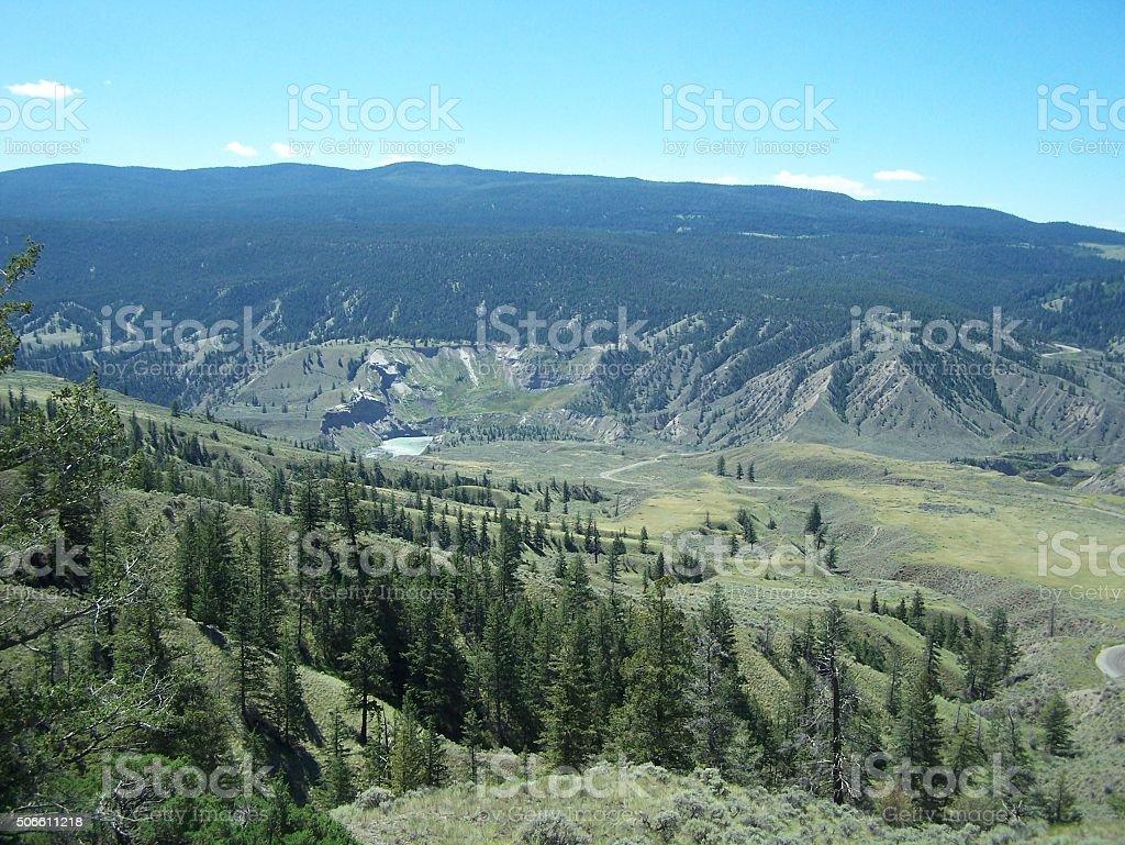 Fraser river landscape scenic stock photo