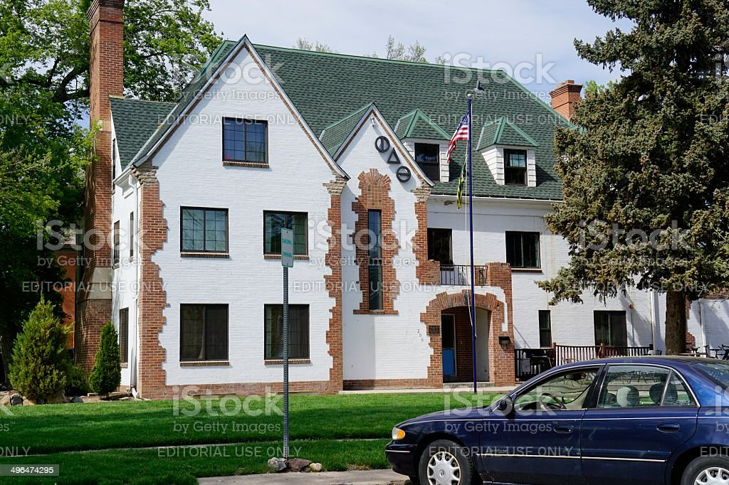 Fraternity House, Fort Collins stock photo